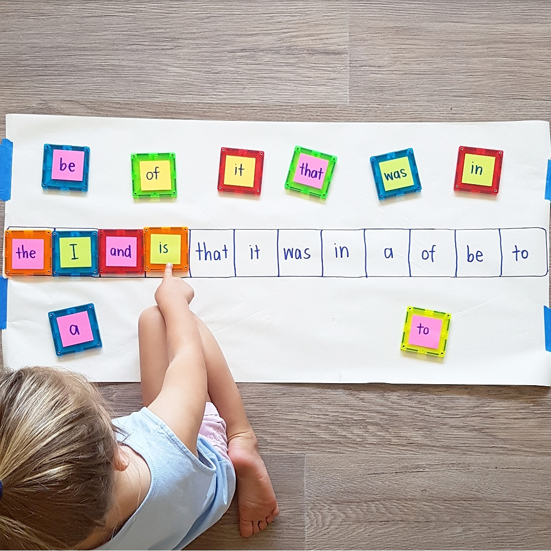 b61ac3fd900 15 Ways to Make Learning Sight Words Fun (and won t take you half the day  to set up!)